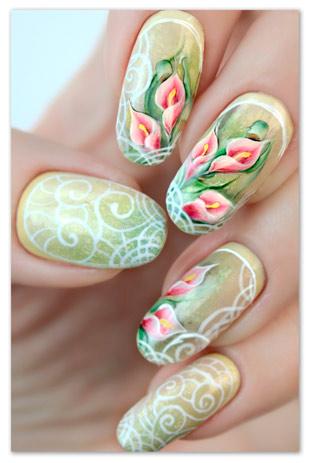Как рисовать на ногтях красками китайскую роспись